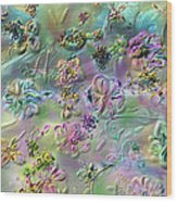 Satin Flowers Wood Print