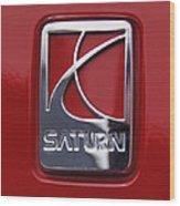 Saturn Badge Wood Print