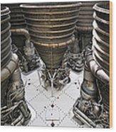 Saturn Five Wood Print