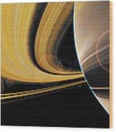 Saturn Glory Wood Print
