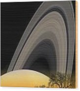 Saturn View 2 Wood Print