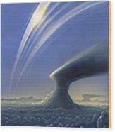 Saturn's Rings, Artwork Wood Print