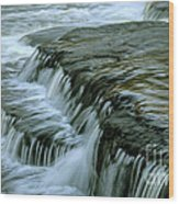 Sauble Falls Closeup Wood Print by Chris Hill