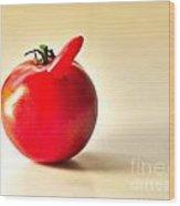 Saucy Tomato Wood Print