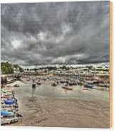 Saundersfoot Harbour Wood Print