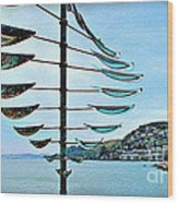 Sausalito Coast Wood Print