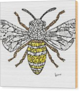 Save The Bees Wood Print