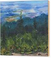Sawbill Overlook Sunset Wood Print