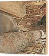 Sawmill Wood Print by Bjorn Svensson