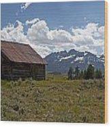 Sawtooth Cabin  Wood Print