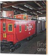 Scale Caboose - Traintown Sonoma California - 5d19240 Wood Print
