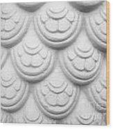 Scale Of Naga Statue Wood Print by Phalakon Jaisangat