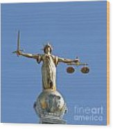 Scales Of Justice Wood Print