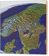 Scandinavia Wood Print