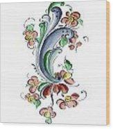 Scandinavian Flower I Wood Print