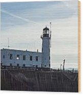 Scarborough Lighthouse Wood Print