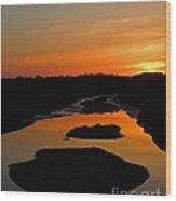 Scarborough Marsh Sunset 1 Wood Print