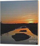 Scarborough Marsh Sunset 2 Wood Print