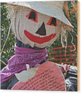 Scarecrow Andy Wood Print