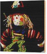 Scarecrow Wood Print by David Alvarez