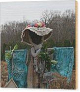 Scarecrow Garden Art Wood Print