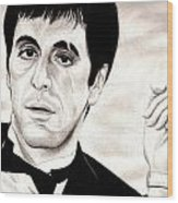 Scarface Wood Print by Michael Mestas