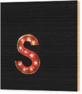 Scarlet Letter Wood Print
