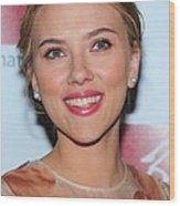 Scarlett Johansson At Arrivals For New Wood Print by Everett