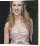 Scarlett Johansson Wearing A Miu Miu Wood Print