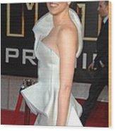 Scarlett Johansson Wearing An Armani Wood Print