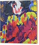 Scary Clown Wood Print