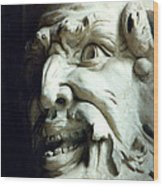 Scary Face Wood Print