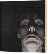 Scary Woman Wood Print
