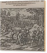 Scene Of Early Slavery In The Americas Wood Print by Everett