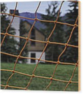 Scene Through A Volley Ball Court 2 Wood Print