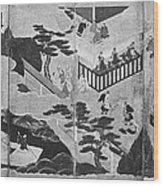 Scenes From The Tale Of Genji Wood Print