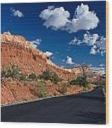 Scenic Drive Through Capitol Reef National Park Wood Print