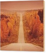 Scenic Highway Wood Print