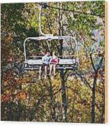 Scenic Ride Wood Print