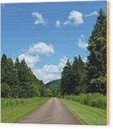 Scenic Road Wood Print