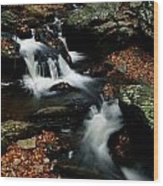 Scenic View Of A Waterfall On Smith Wood Print