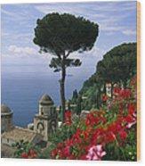 Scenic View Of Villa Rufolo Terrace Wood Print