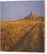 Scenic View Of Western Nebraska Wood Print