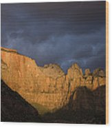 Scenic View Of Zion National Park Wood Print