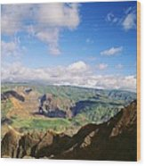 Scenic Waimea Canyon Wood Print