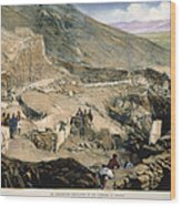 Schliemanns Excavation Wood Print