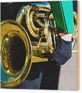 School Band Horn Wood Print