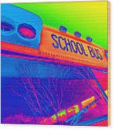 School Bus Wood Print