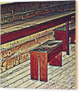 School House Benched And Dusted Wood Print