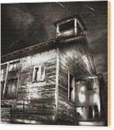 School House Rot Wood Print